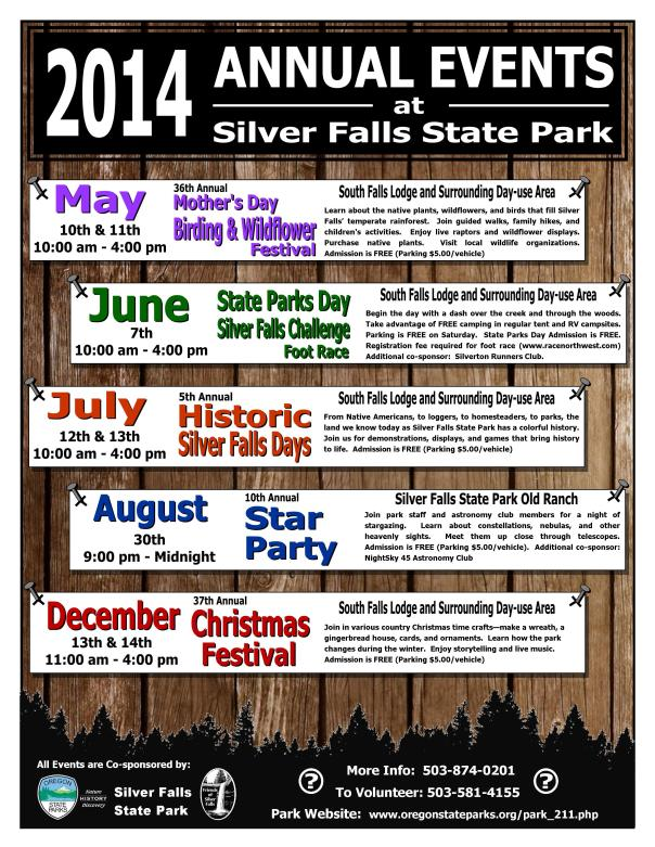 2014 Annual Events Flyer Picture
