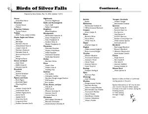 Bird List_Half_Jan 2012 Double-sided