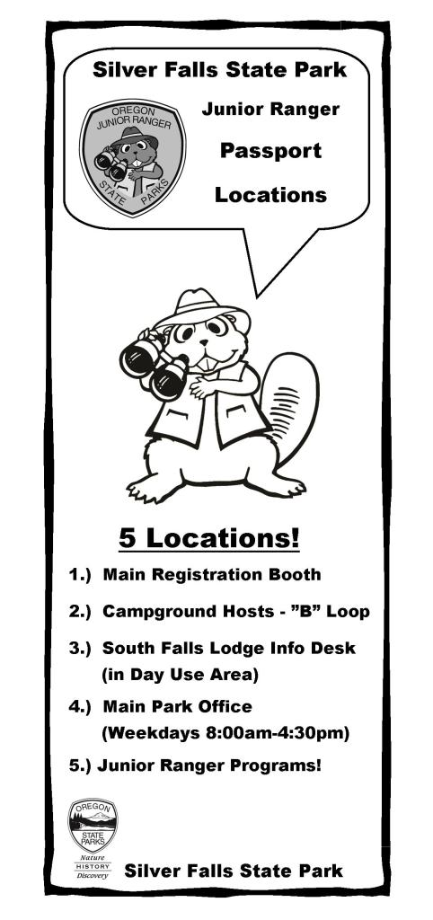 Junior Ranger Passport Locations Single