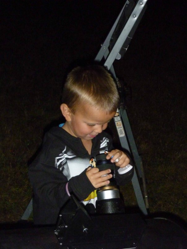 Little Guy at Telescope