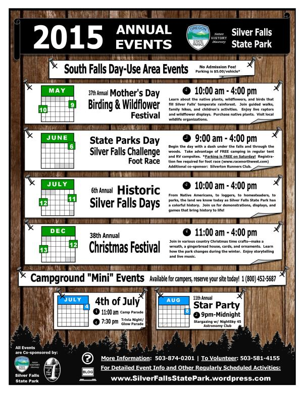 2015 Silver Falls Annual Events Flyer V2