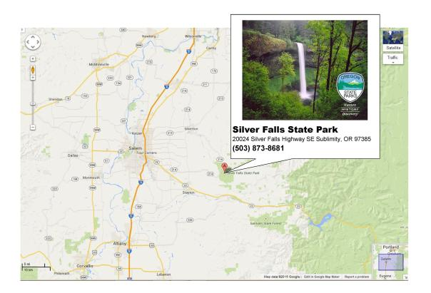 Silver Falls Google Map Updated