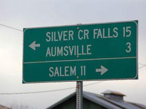Statesman Journal Creek Road Sign