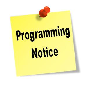 Programming Notice Icon