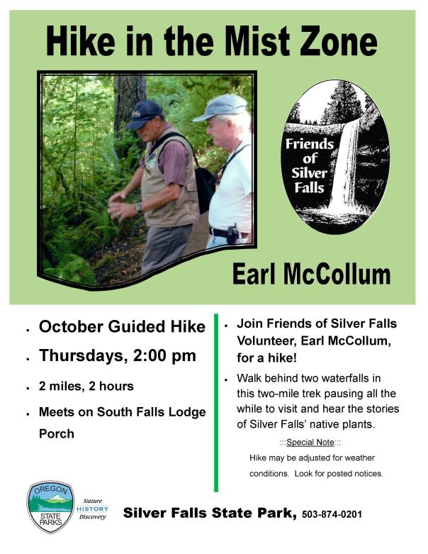 October 2015 Hike in the Mist Zone Poster