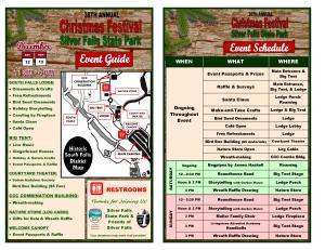 2015 Christmas Festival Event Guide 1 Page