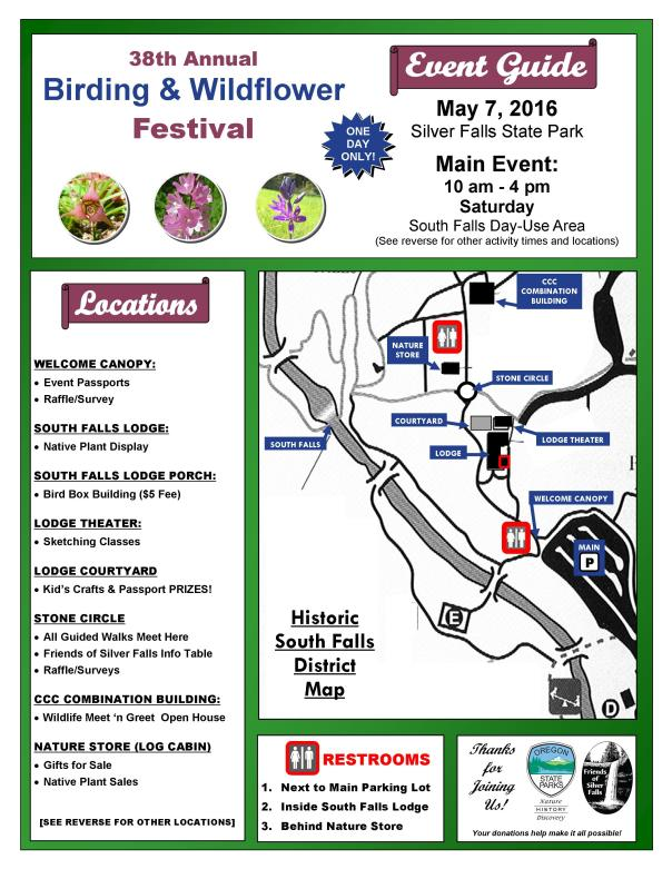 2016 Birding & Wildflower Festival Event Guide Page 1