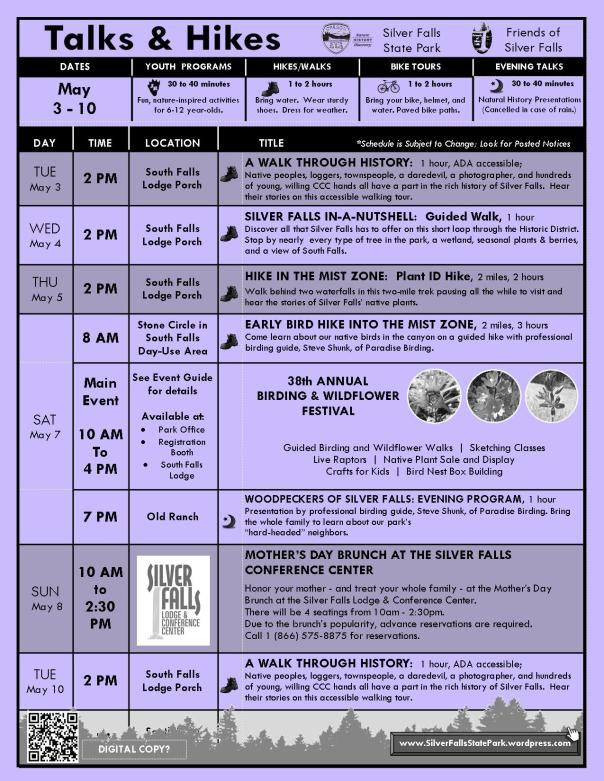 May 3-10, 2016 Program Flyer