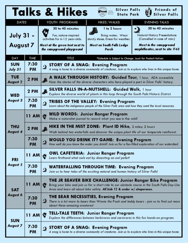 July 31-August 7 Program Flyer BLOG