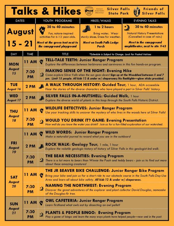 August 14-21 Program Flyer Blog
