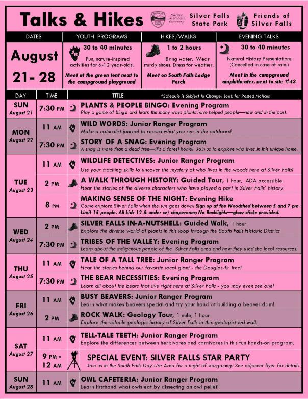 August 21-28 Program Flyer BLOG