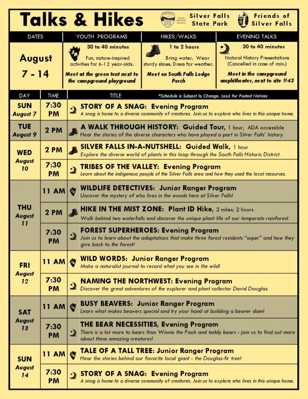 August 7-14 Program Flyer Blog