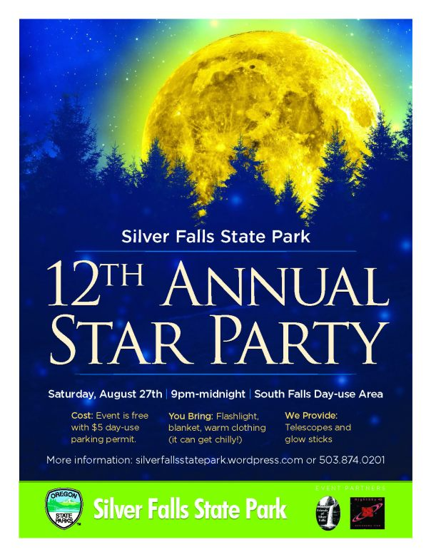 Silver Falls 12th Annual Star Party Flyer 2