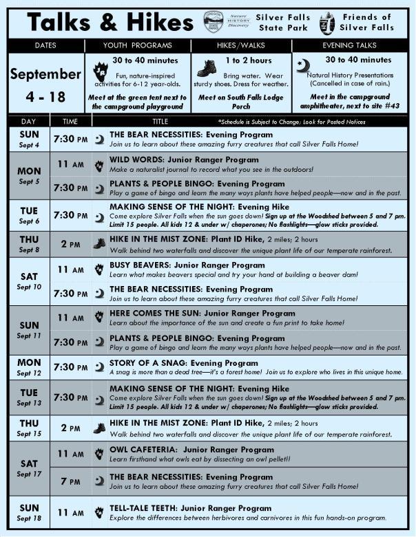 September 4-18 BLOG