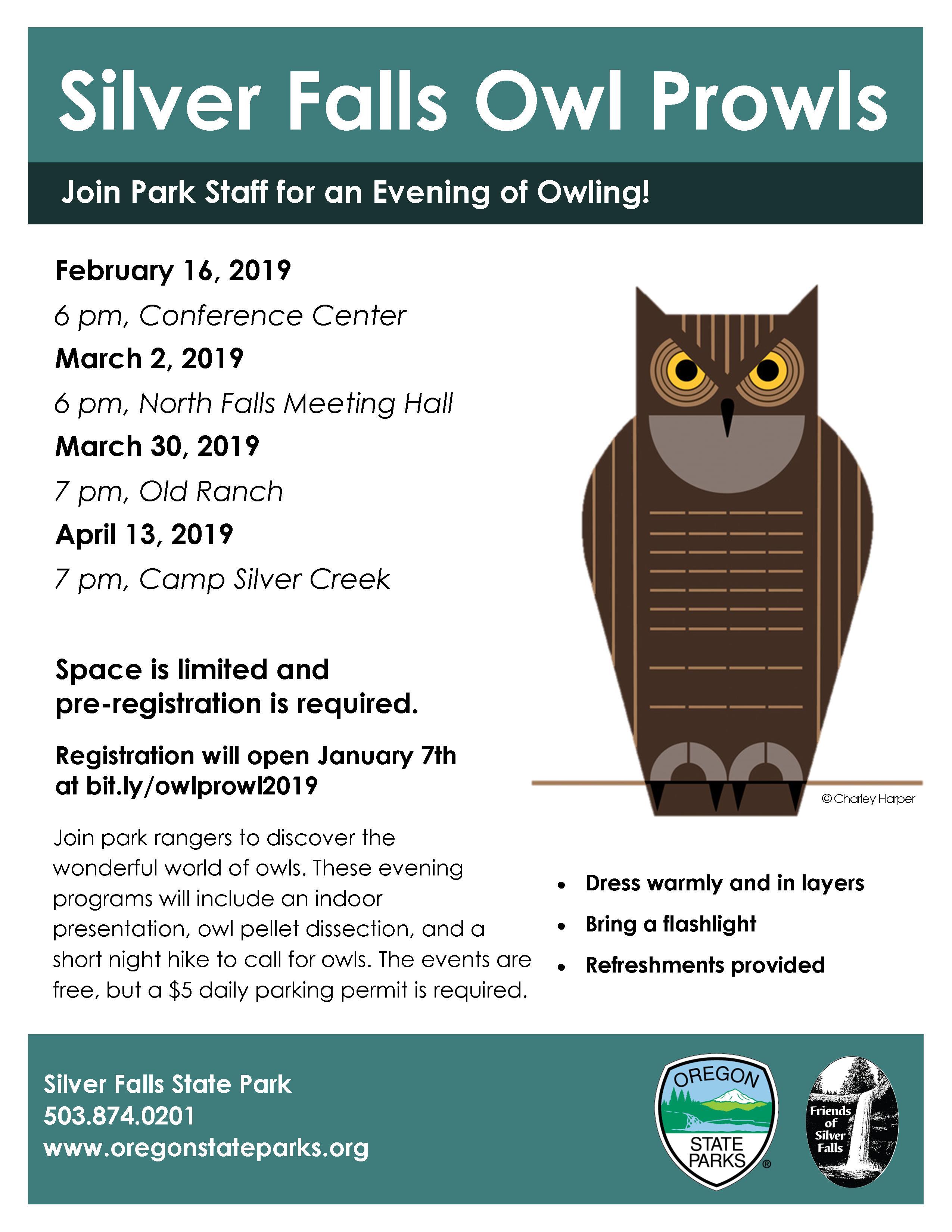 2019 Silver Falls Owl Prowls | Discover Silver Falls