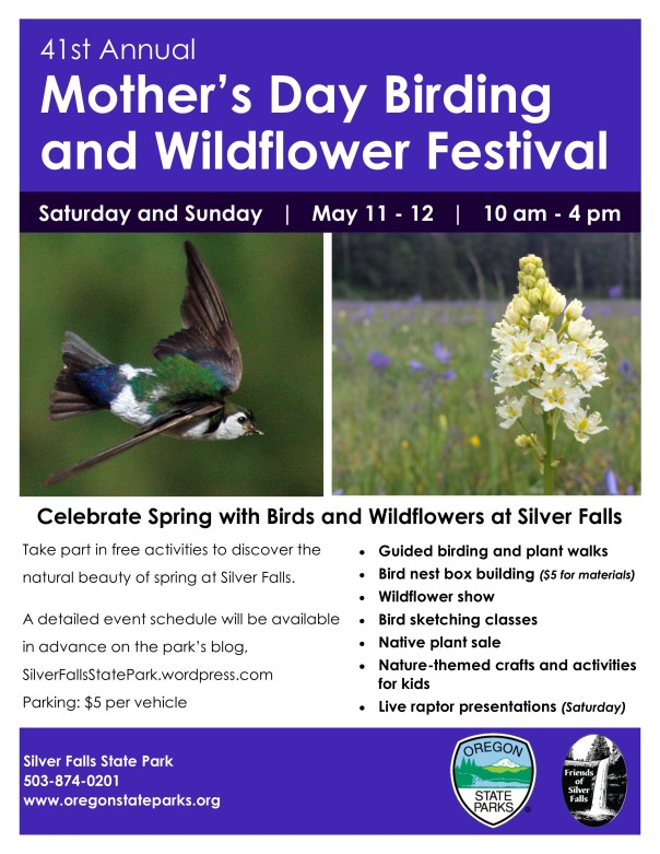 2019 Birding and Wildflower Poster Indigo background blog